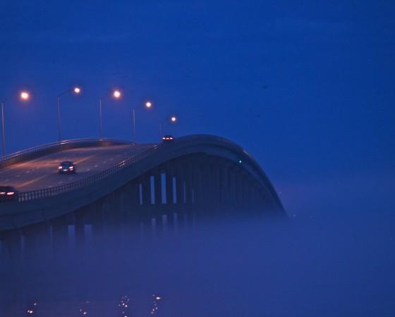 Foggy Atlantic Beach Bridge