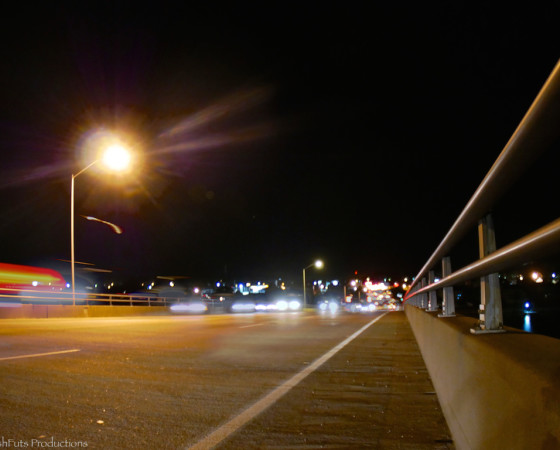 Atlantic Beach Bridge at Night